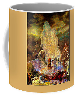 Coffee Mug featuring the painting The Valley Of Sphinks by Henryk Gorecki