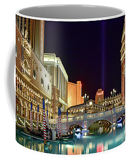 The Venetian Gondolas At Night Coffee Mug