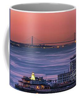 The Verrazano Bridge At Sunrise Coffee Mug