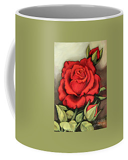 The Very Red Rose Coffee Mug by Inese Poga