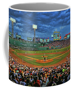 The View From Behind Home Plate - Fenway Park Coffee Mug