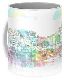 The View From Castel Sant'angelo Towards Ponte Sant'angelo, Brid Coffee Mug