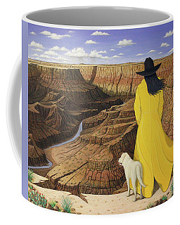 Coffee Mug featuring the painting The View by Lance Headlee