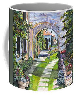 Coffee Mug featuring the digital art The Villa by Darren Cannell