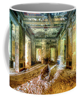 Coffee Mug featuring the photograph The Villa Of The Boat In The Antique Salon - La Villa Della Barca Nell'antico Salone by Enrico Pelos