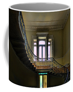 Coffee Mug featuring the photograph The Villa Of The Great Staircase - La Villa Dello Scalone by Enrico Pelos