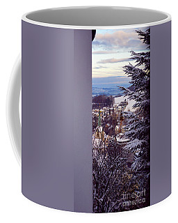 Coffee Mug featuring the photograph The Village - Winter In Switzerland by Susanne Van Hulst