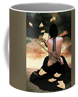 The Violin Song Coffee Mug by Mihaela Pater