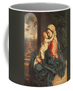 The Virgin And Child Embracing Coffee Mug