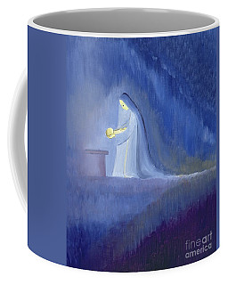 The Virgin Mary Cared For Her Child Jesus With Simplicity And Joy Coffee Mug