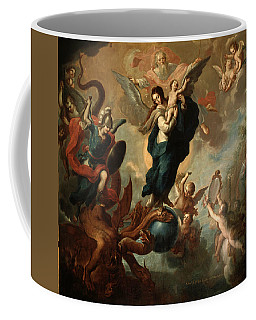 Coffee Mug featuring the painting The Virgin Of The Apocalypse by Miguel Cabrera