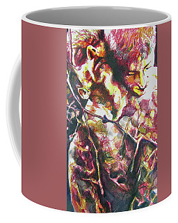 Coffee Mug featuring the painting The Warm Breeze Behind The Sun by Rene Capone