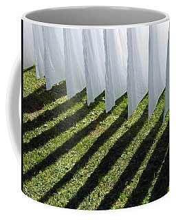 The Washing Is On The Line - Shadow Play Coffee Mug