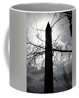 The Washington Monument - Black And White Coffee Mug