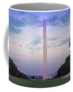 The Washington Monument At Dawn Coffee Mug