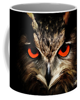 The Watcher - Owl Digital Painting Coffee Mug