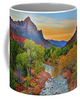 The Watchman And The Virgin River Coffee Mug