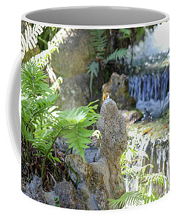 Coffee Mug featuring the photograph The Water And Rock Spot by Raphael Lopez