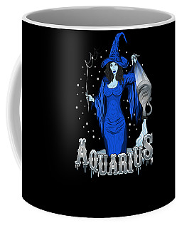 Coffee Mug featuring the drawing The Water Bearer - Aquarius Spirit by Raphael Lopez
