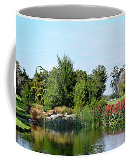 Coffee Mug featuring the photograph The Water On Number One Santa Maria Country Club by Barbara Snyder