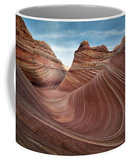 Coffee Mug featuring the photograph The Wave by James Udall