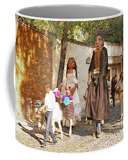Coffee Mug featuring the photograph The Wedding Parade by John Kolenberg