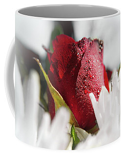 The Wet Red Rose Coffee Mug by Michelle Meenawong