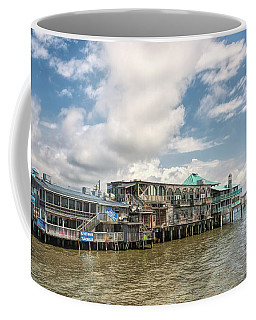 Coffee Mug featuring the photograph The Wharf At Cedar Key by John M Bailey