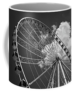 The Wheel And Sky In Black And White Coffee Mug