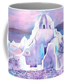 Greece White Church Of Mykonos Coffee Mug