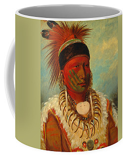 Coffee Mug featuring the painting The White Cloud, Head Chief Of The Iowas by George Catlin