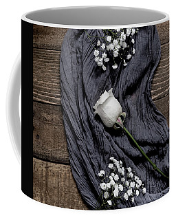 Coffee Mug featuring the photograph The White Rose by Kim Hojnacki