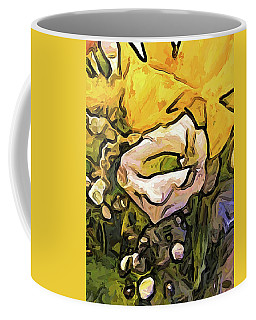 The White Rose With The Eye And Gold Petals Coffee Mug