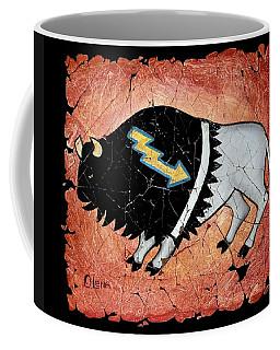 The White Sacred Buffalo Fresco Coffee Mug