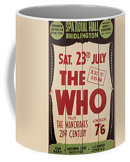 The Who 1966 Tour Poster Coffee Mug