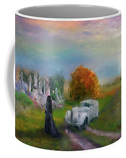Coffee Mug featuring the digital art The Widow by Michael Cleere
