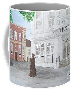 The Willis Museum Basingstoke With Jane Austen Statue Coffee Mug