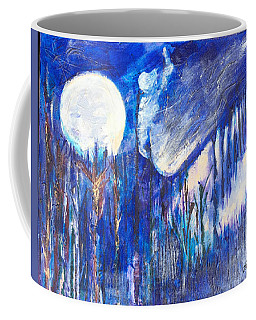 The Wind Blows A Kiss To The Moon Coffee Mug by Seth Weaver