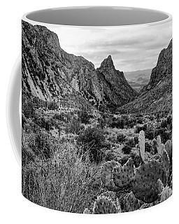 The Window 2 Black And White Coffee Mug
