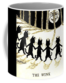 The Wink Six Black Pussy Cats Coffee Mug