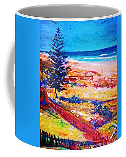 Coffee Mug featuring the painting The Winter Dunes by Winsome Gunning