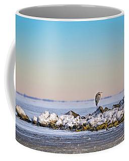 The Winter Heron Coffee Mug