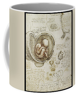 Coffee Mug featuring the painting The Womb And Embreyo  by James Christopher Hill