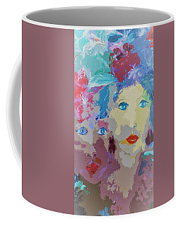 The Women In Feathers And Flowers Painting Coffee Mug