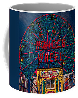 Coffee Mug featuring the photograph The Wonder Wheel At Luna Park by Chris Lord