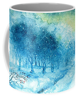 The Woods Are Lovely Dark And Deep Coffee Mug