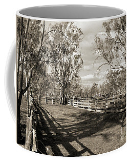 Coffee Mug featuring the photograph The Yards by Linda Lees