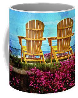 The Yellow Chairs By The Sea Coffee Mug
