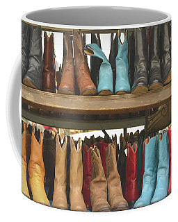 Them Boots, Turquoise And Red Coffee Mug by Nadalyn Larsen