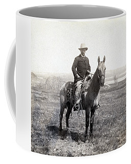 Theodore Roosevelt Horseback - C 1903 Coffee Mug by International  Images